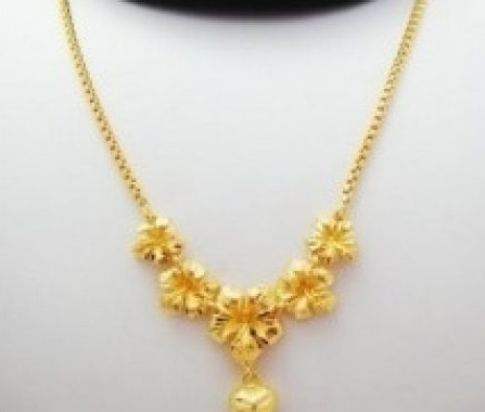 Flower Pendants Necklace in 15 Gms