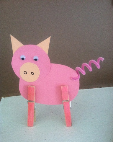 Funny Pigs Crafts for Kids