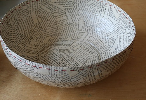 Funny Bowl Newspaper Crafts