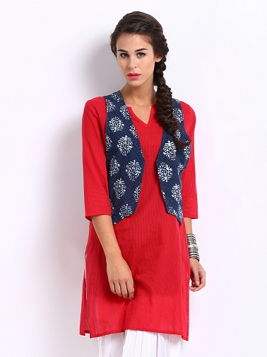 Girls Kurti with Waist Coat