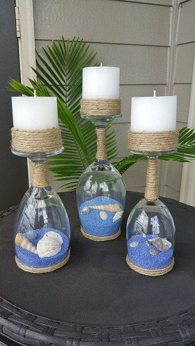 Glass Candle Holders Glass Craft