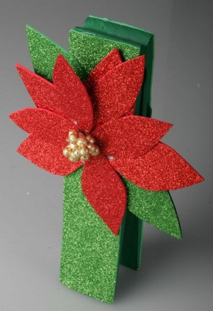 Glittery Poinsettia Crafts