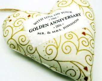 Golden Fabric Heart
