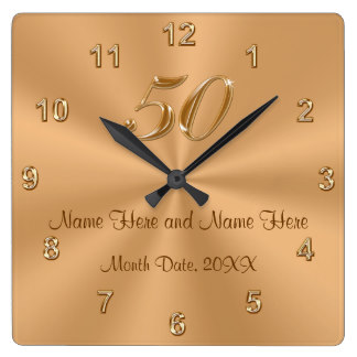 Golden Gift Clock