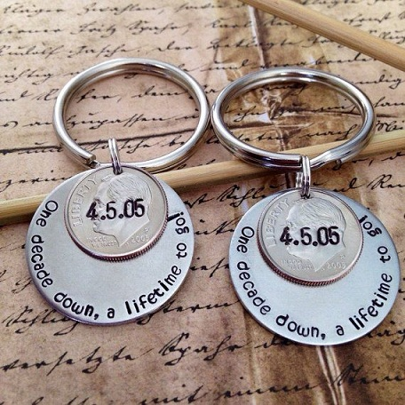 Hand Stamped Key Rings