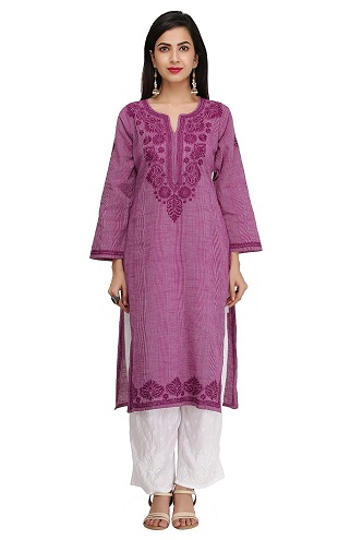 Hand Crafted Regular Purple Kurti