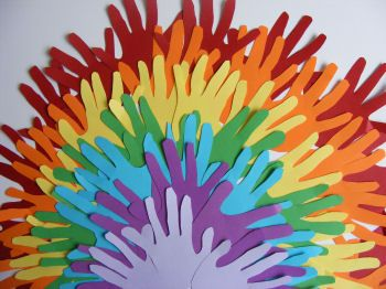 Hand Print Rainbow Crafts