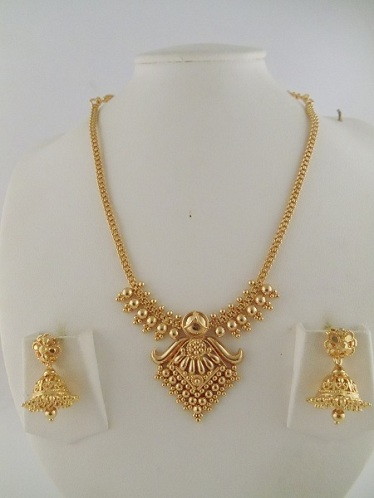 Jhumka Design Necklace in 15 Gms