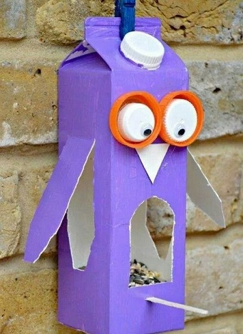 Juice Carton Owl Craft