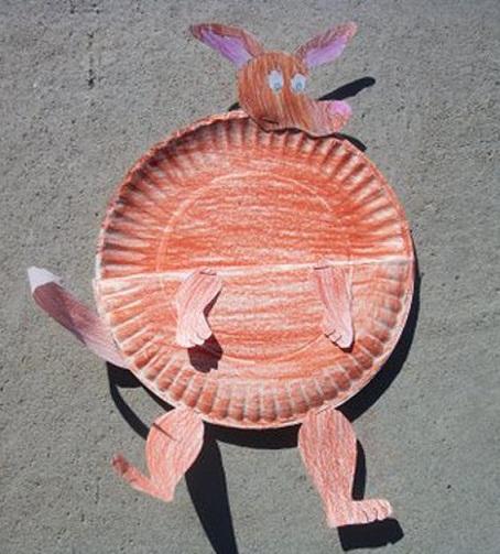 Kangaroo From Paper Dish