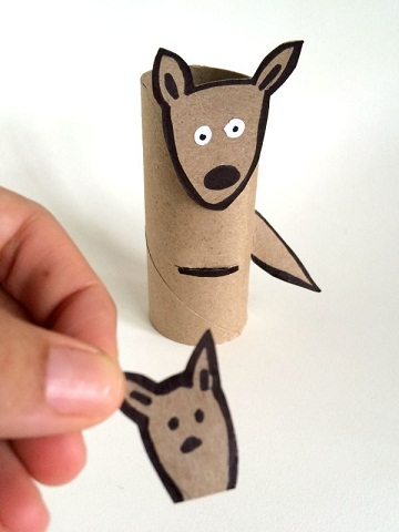 Kangaroo Puppets From Papers