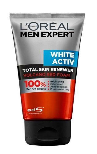 L'Oreal Paris Men Expert White Activ Volcano Red Foam Face Wash
