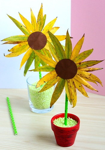 Leaf Sunflower Craft