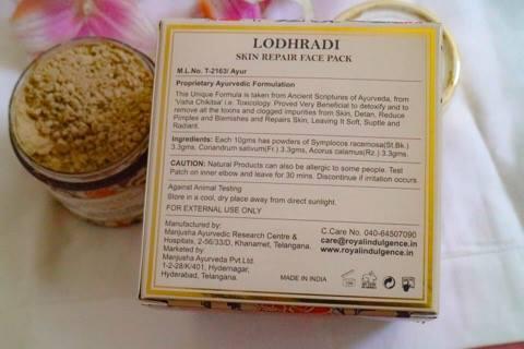 Lodhradi Skin Repair Face Pack