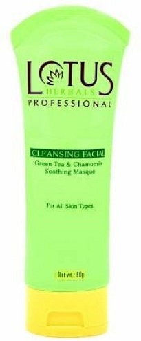 Lotus Herbals Cleansing Facial Green Tea and Chamomile Soothing Mask