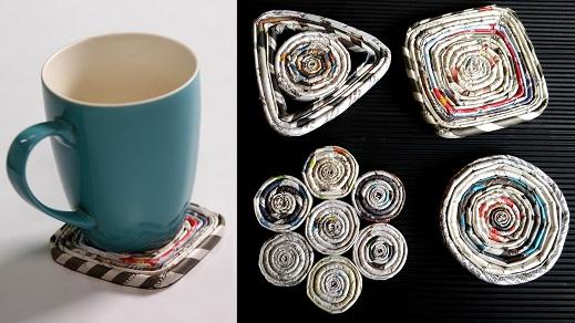 Magazine Tea Coaster Craft Ideas