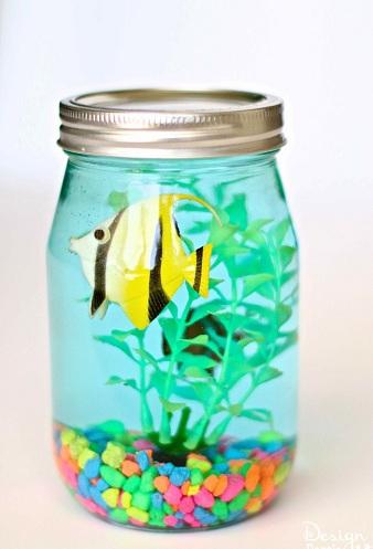 Mason Jar Aquarium Fun Craft