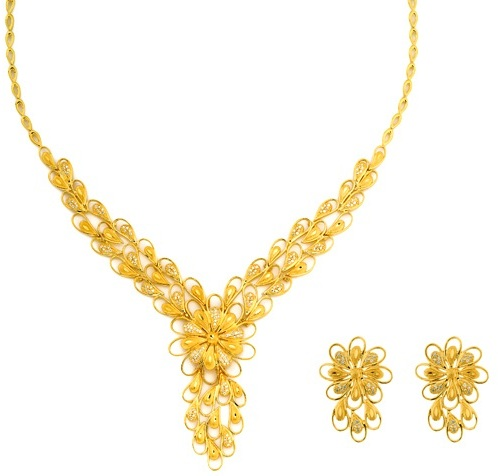 Modern Necklace Design in 15 Gms