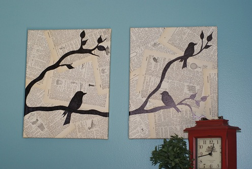 Newspaper Crafts for Wall Hanging