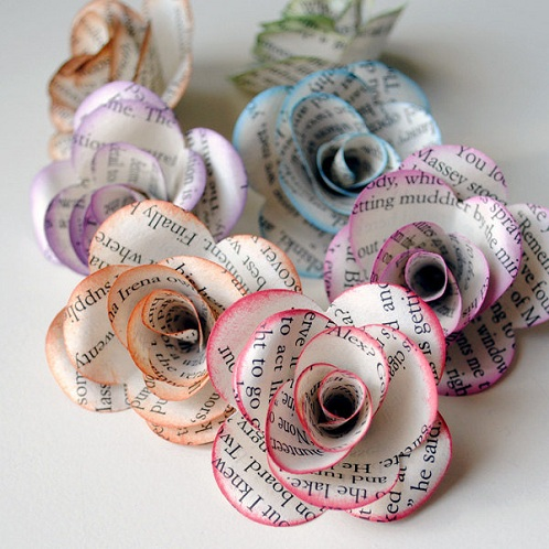 Old Book Papers Craft Ideas