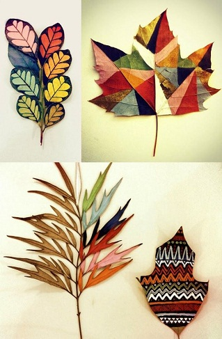 Painting Leaves Craft