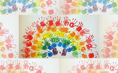 Palm Print Rainbow