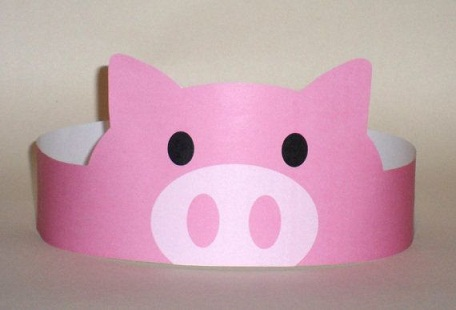 Paper Crown Pigs Crafts