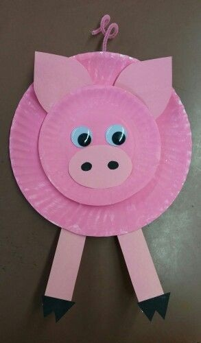 Paper Plate Pig Crafts