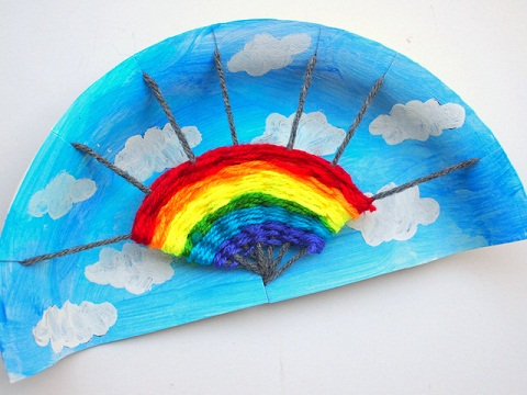Paper Plate Rainbow Crafts