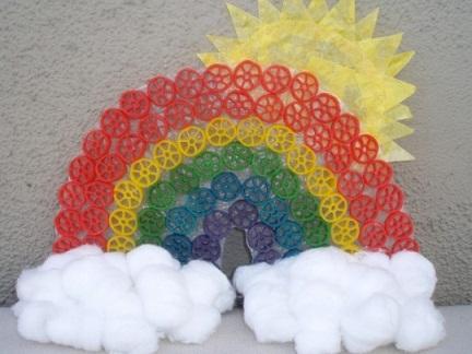 Pasta Rainbow Crafts