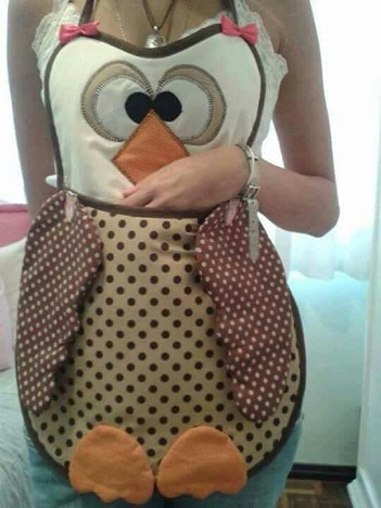 Patchwork Apron Owl Craft