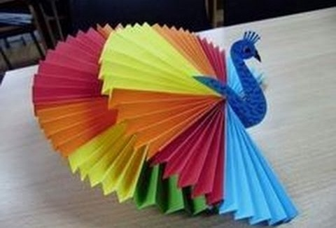 Peacock Rainbow Craft