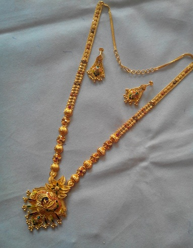 Peacock Design Necklace in 30 Gms