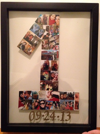 Try To Do A DIY Photo Frame For Your Anniversary Gifts Girlfriend This Collage Is In The Shape Of Number Years You Are Celebrating