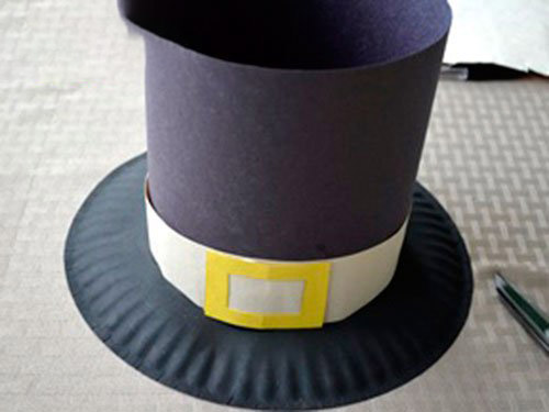 Kids Pilgrim Hat Craft Pattern