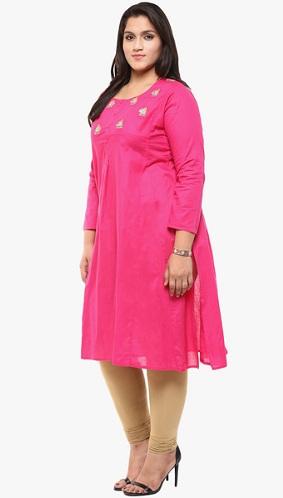Pink Plus Size Kurta