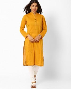 Plain Yellow Kurti