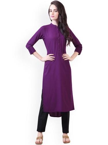 Plain Purple Kurti