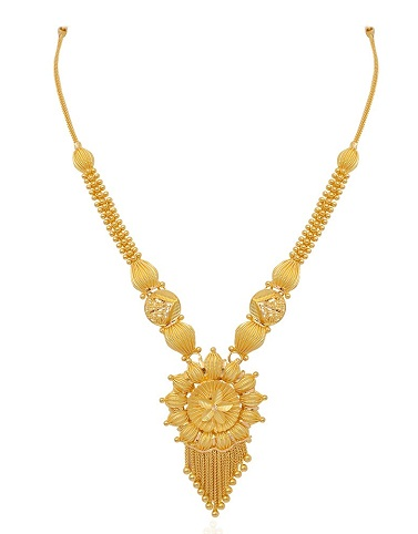Plum Bago Floral Necklace