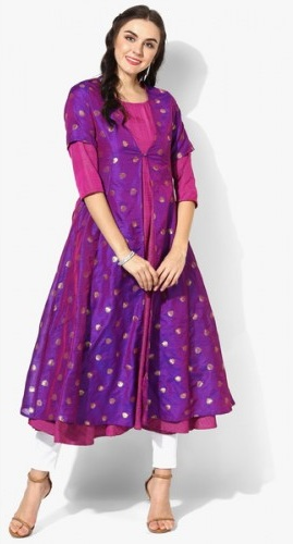 Purple Anarkali Kurta