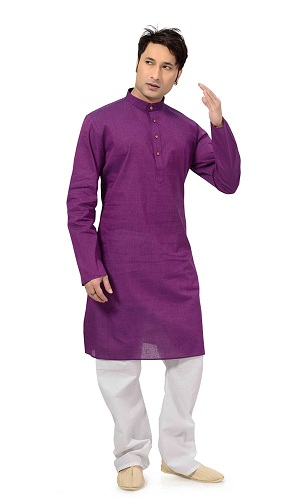 Purple Cotton Kurti
