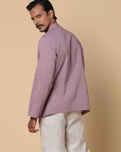 Purple Short Kurta