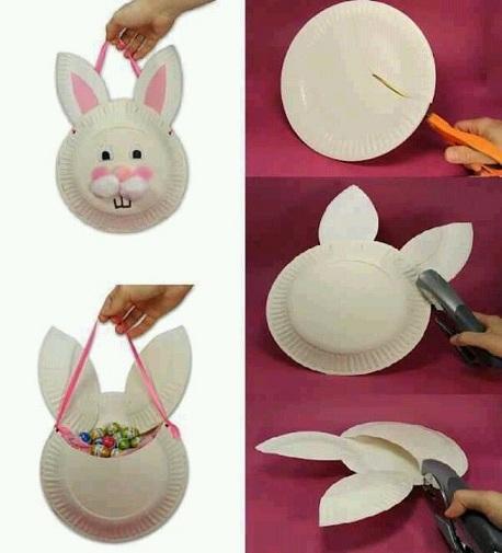 Rabbit Easter Basket Craft Ideas