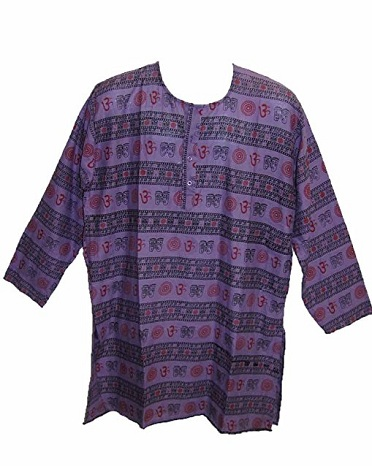 Regular Fit Purple Kurta