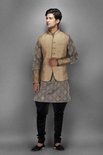 kurta with waistcoat