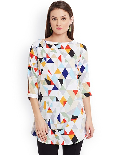 Short Kurti with Modern Print