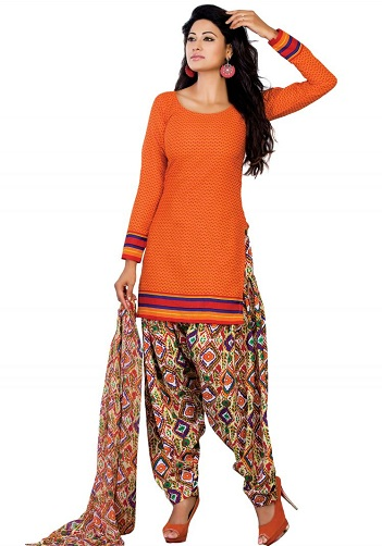Short Style Orange Kurti