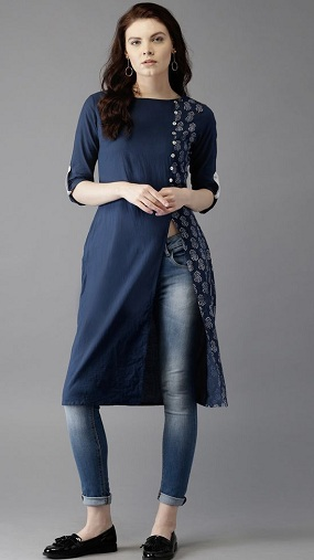Side Slit Long Kurti