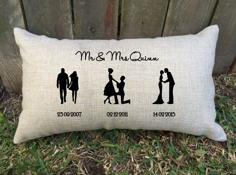 Silhouette Couple Pillow