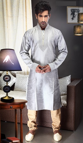 Silver Grey Men's Kurta